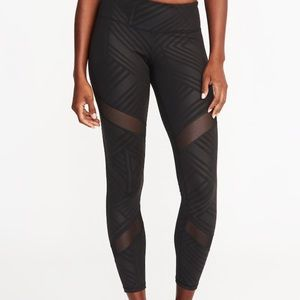 Old Navy workout leggings - mesh design plus